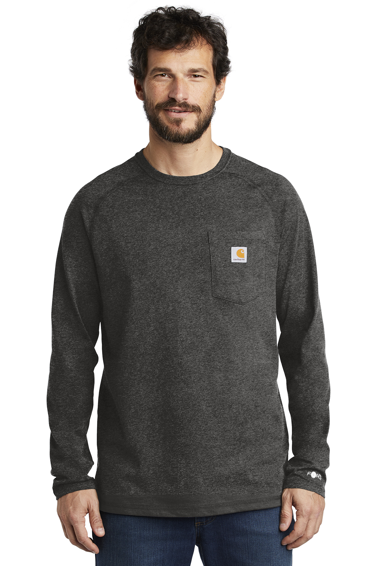 Carhartt Force CT100393 - Cotton Delmont Long Sleeve T-Shirt