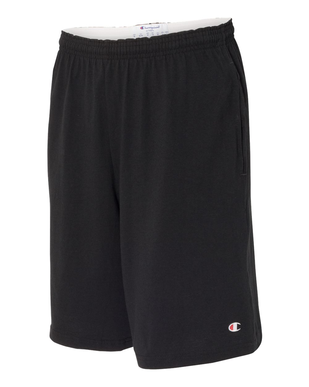 "Champion 8180 - 9"" Inseam Cotton Jersey Shorts with Pockets"