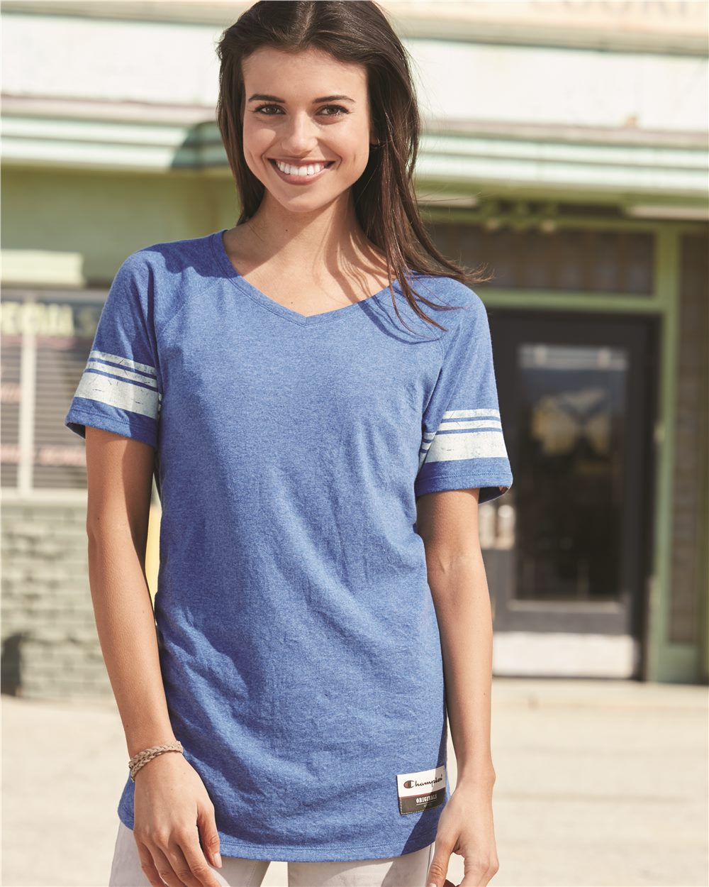 Champion AO350 - Authentic Originals Women's Triblend Varsity Tee