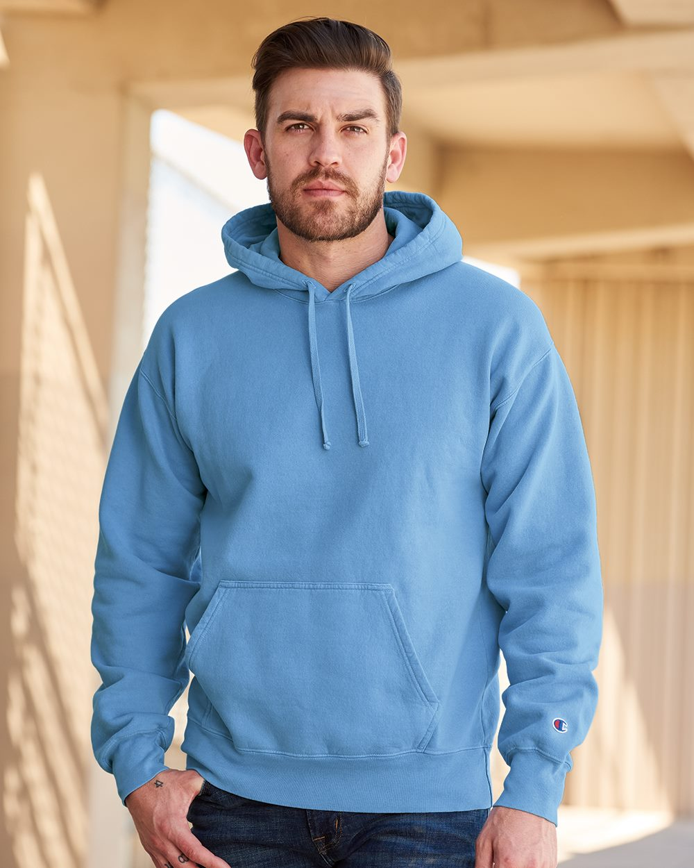 Champion CD450 - Garment Dyed Hooded Sweatshirt