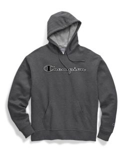 Champion GF89H-CS - Men's Powerblend® Fleece Pullover Hoodie - Chainstitch Logo