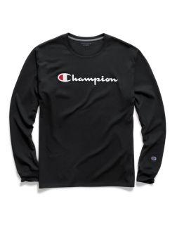 Champion GT78H-S - Men's Classic Jersey Long-Sleeve Tee - Script Logo