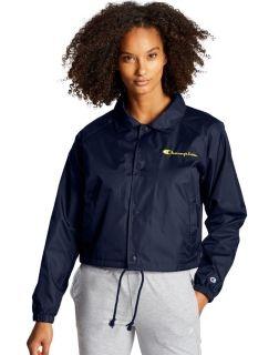 Champion J0334-PC - Women's Cropped Coaches Jacket -...