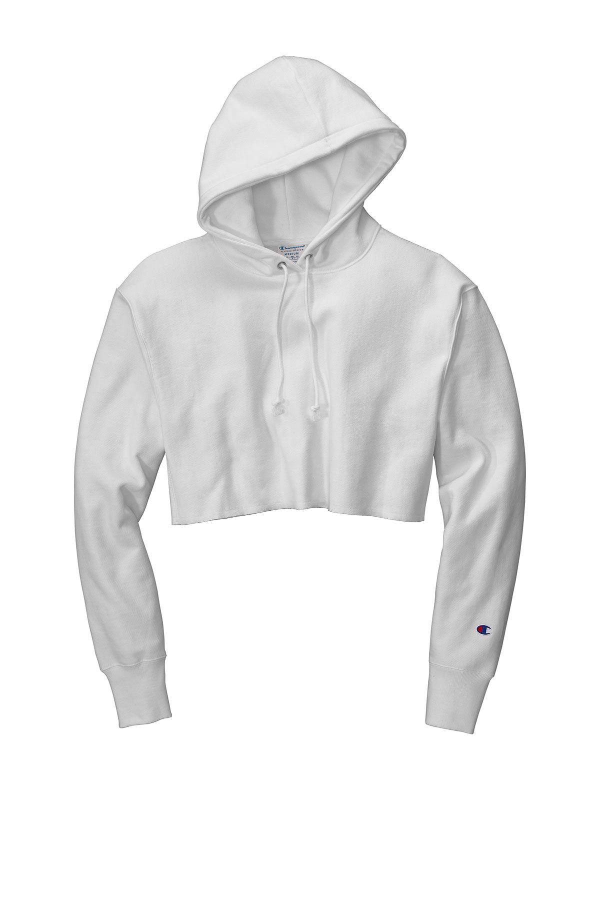 """Champion ® RW01W - Women""""s Reverse Weave ® Cropped Cut-Off Hooded Sweatshirt"""
