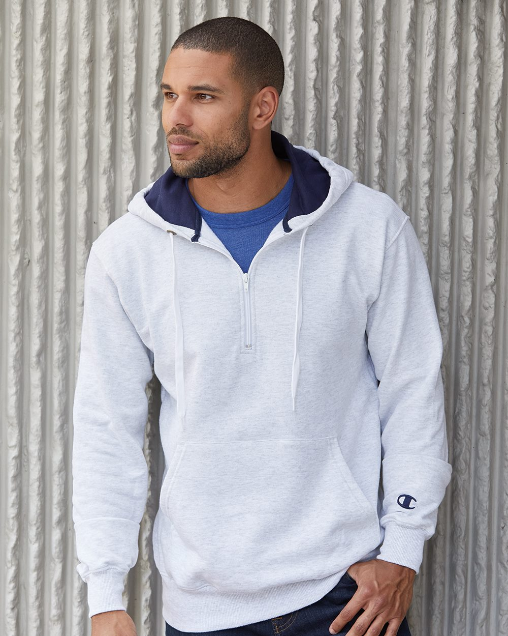 Champion S185 - Cotton Max Quarter Zip Hood
