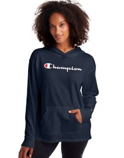 Champion W4909-S - Middleweight Hoodie - Script Logo