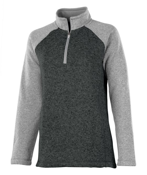 Charles River 5014 - Women's Quarter Zip Color Blocked ...