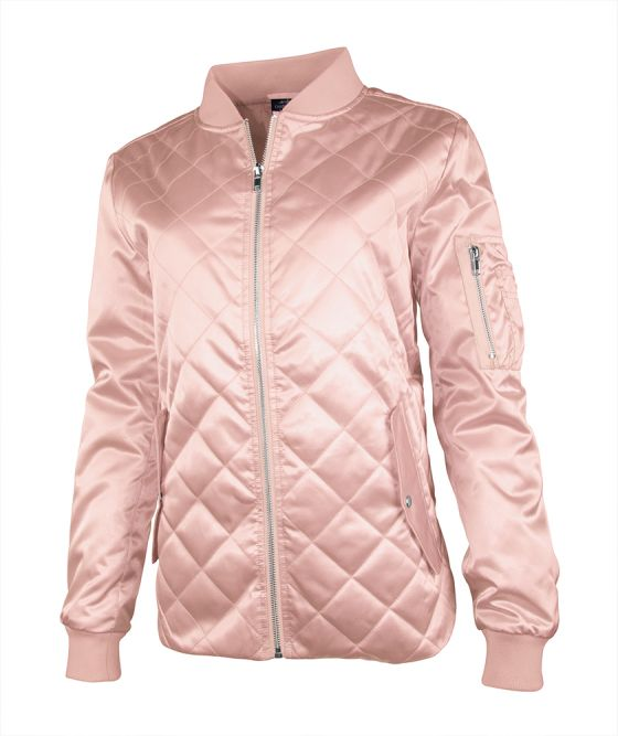 Charles River 5027L - Women's Quilted Boston Flight Satin Jacket