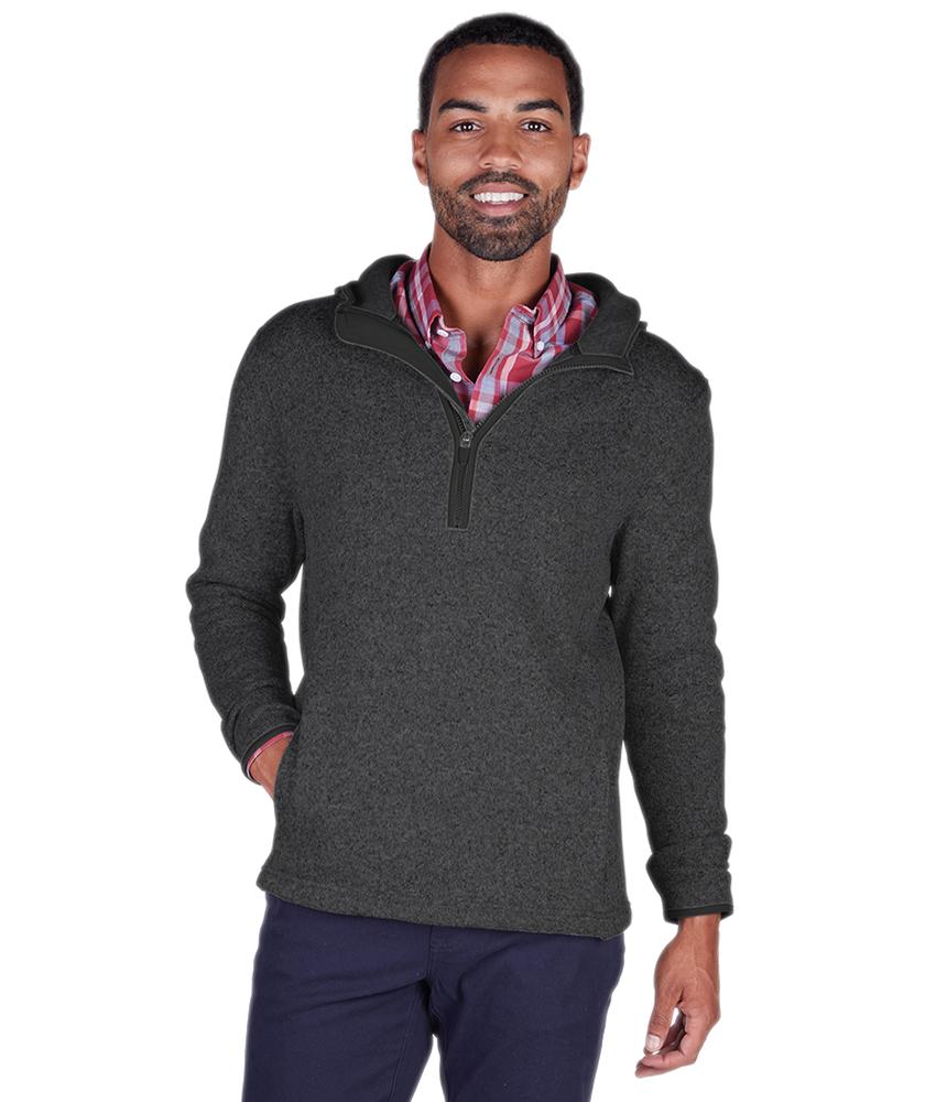 Charles River 9188 - Men's Heathered Fleece Quarter Zip Hoodie