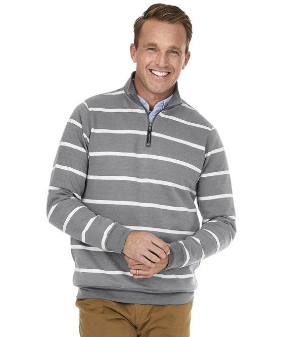 Charles River 9359S - Adult Crosswind 1/4 Zip Print Sweatshirt