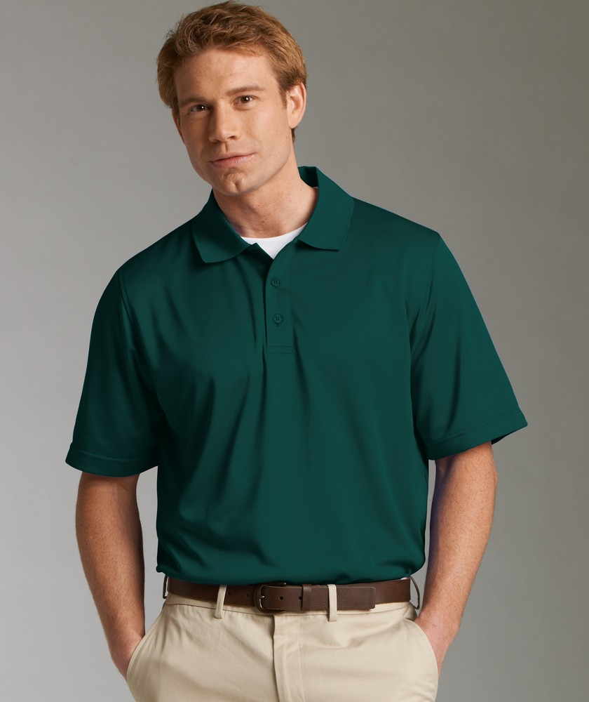 Charles River 3213 - Men's Smooth Knit Solid Wicking Polo