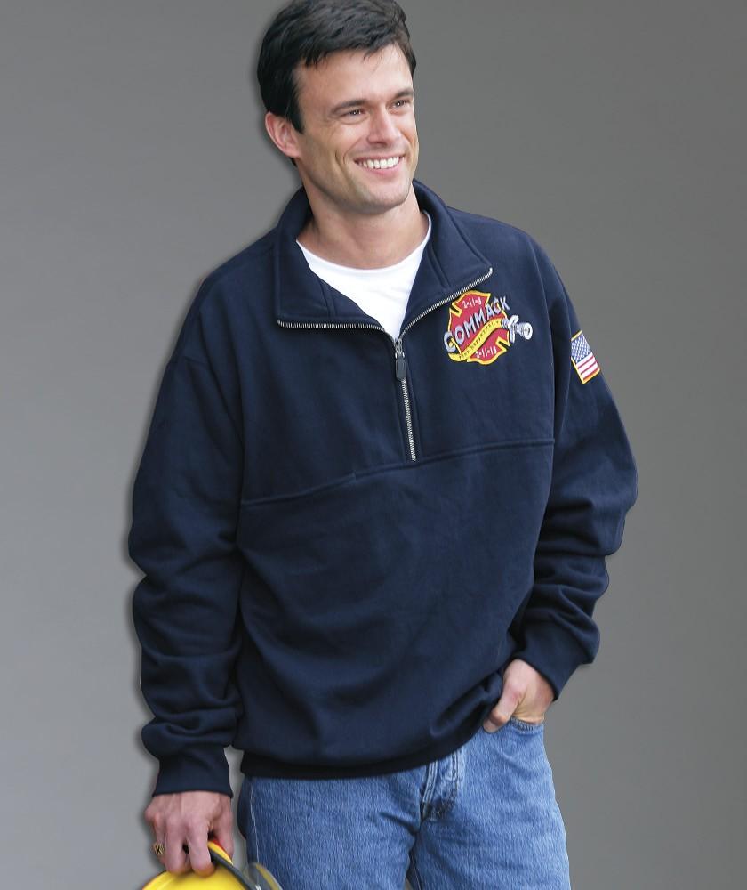 Charles River 9646 男士半拉梁长袖工作服套头衫