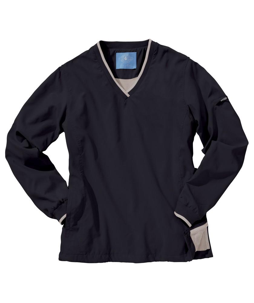 Charles River 5744 女士撞色包边长袖套头衫 ...