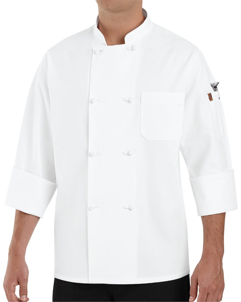 Chef Designs 0414 - Eight Knot Button Chef Coat with ...