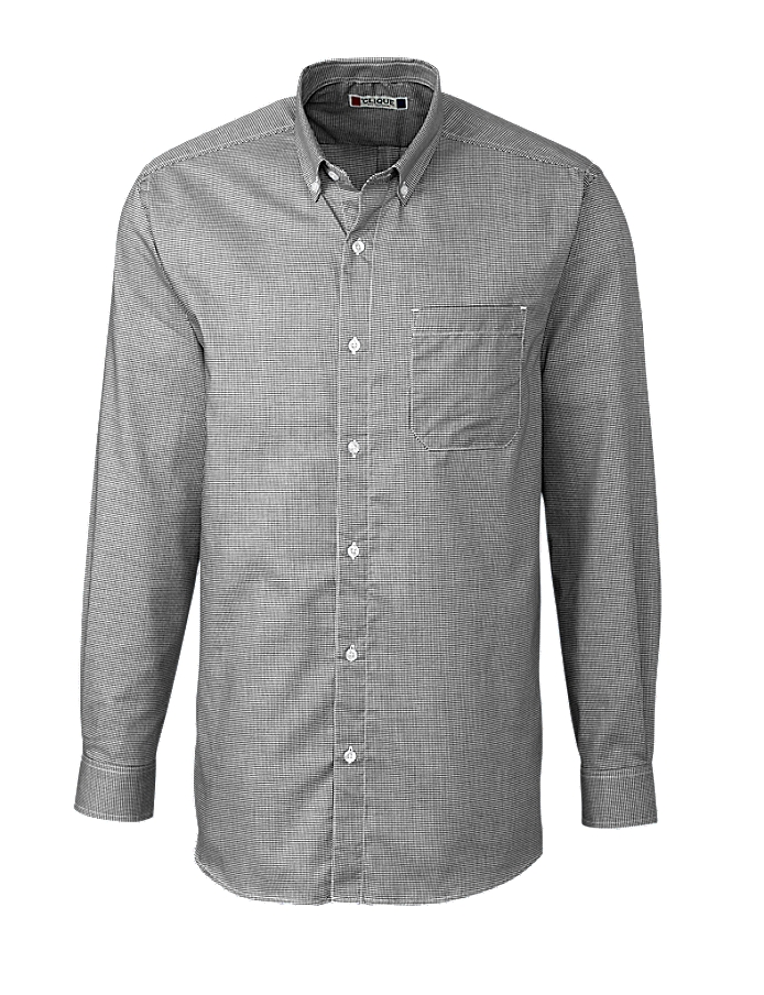 Clique MQW00009 -  Men's L/S Granna Stain Resistant Houndstooth