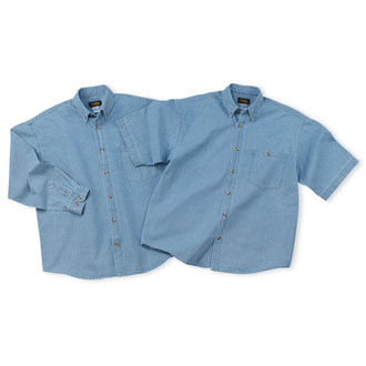 Cobra DEN-S - Denim Washed Shirt-Shrt Sleeve