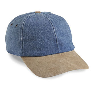 Cobra PDS-R - 6 Panel Denim/Suede Visor