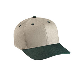Cobra PTH-L - 6 Panel Khaki Crown Leather Cap