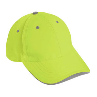 Cobra SAF-6 - 6 Panel Neon Safety/Reflective Cap