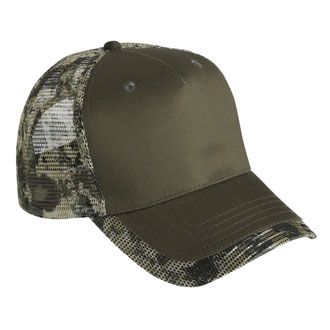 Cobra TMM-C - 5 Panel Cotton Camo/Mesh Cap
