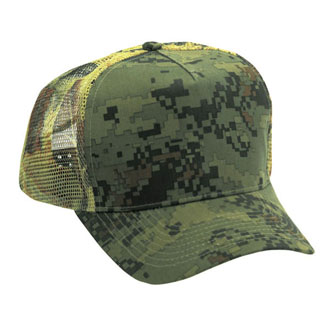Cobra TPM-C - 5 Panel Twill/Mesh Back Camo Cap