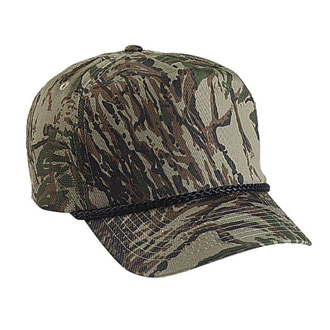 Cobra TSG-C - 5 Panel Camo Golf Cap w/Braid