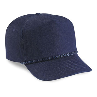 Cobra TSG-D - 5 Panel Denim Snap Back w/Braid Cap