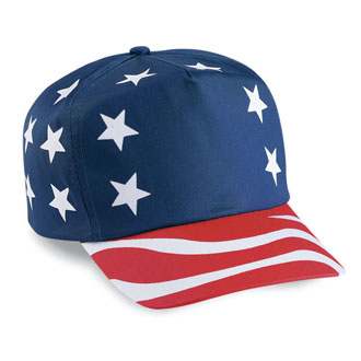Cobra USA-5 - 5 Panel USA Flag Caps