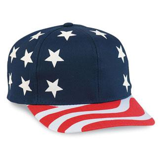 Cobra USA-6 - 6 Panel USA Flag Pro Style Cap