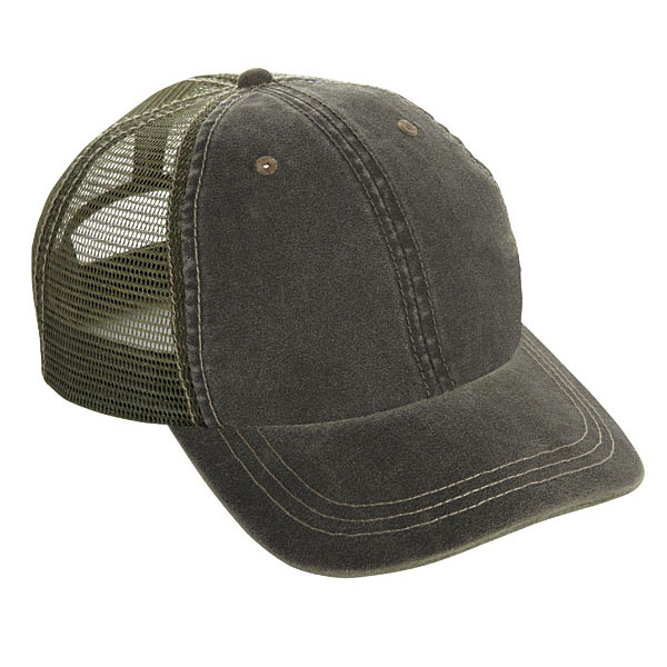 Cobra WC-M - 6 Panel Weather-Washed Cap with SOFT Mesh back