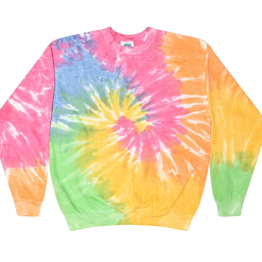 Colortone 8100 - Tie Dye Crew Neck Fleece
