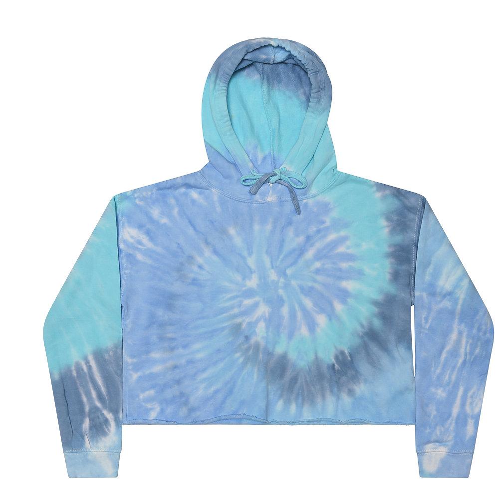 Colortone 8333 - Adult Tie Dye Crop Top Hoodie