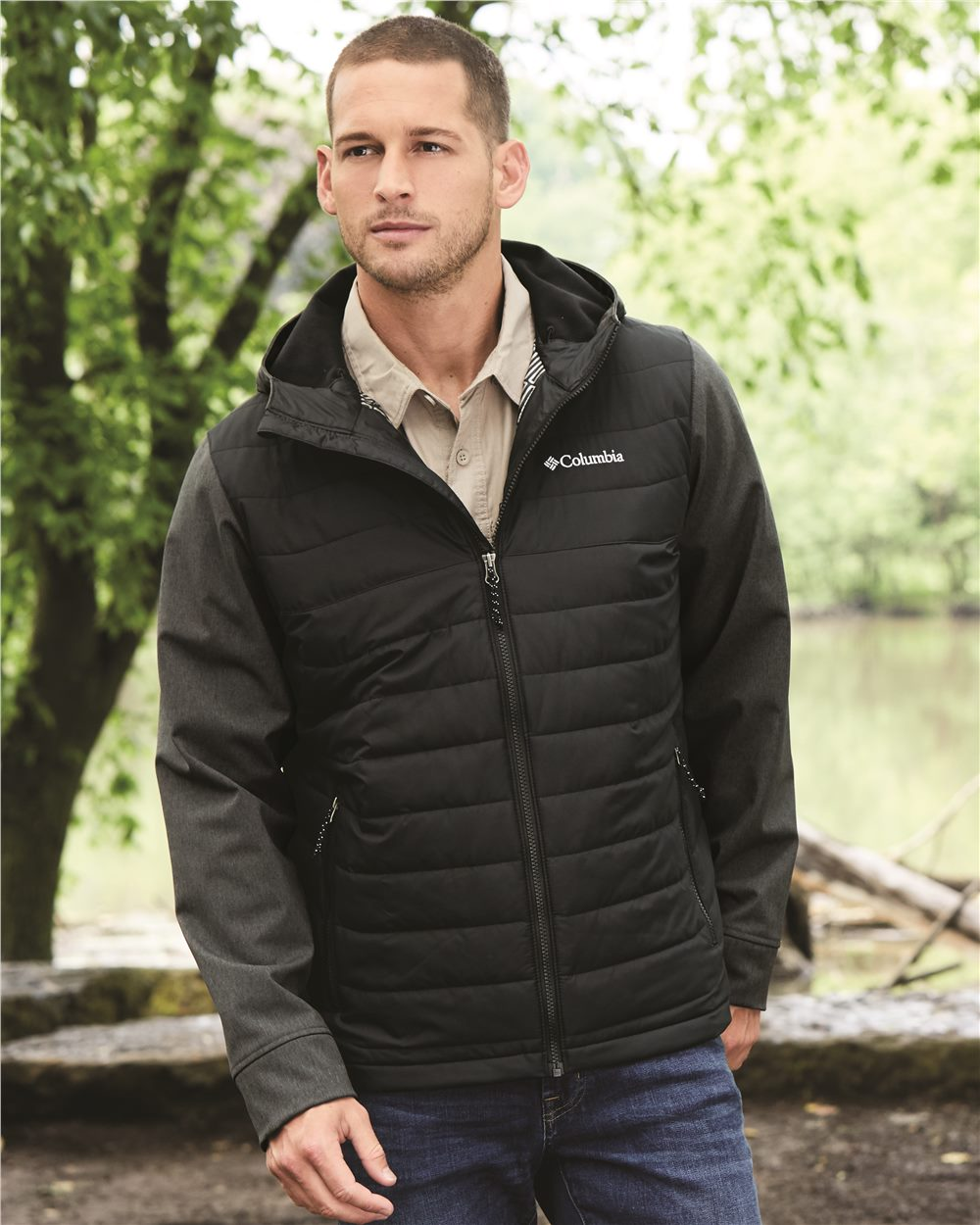 Columbia 179912 - Oyanta Trail Hybrid Hooded Puffer Jacket