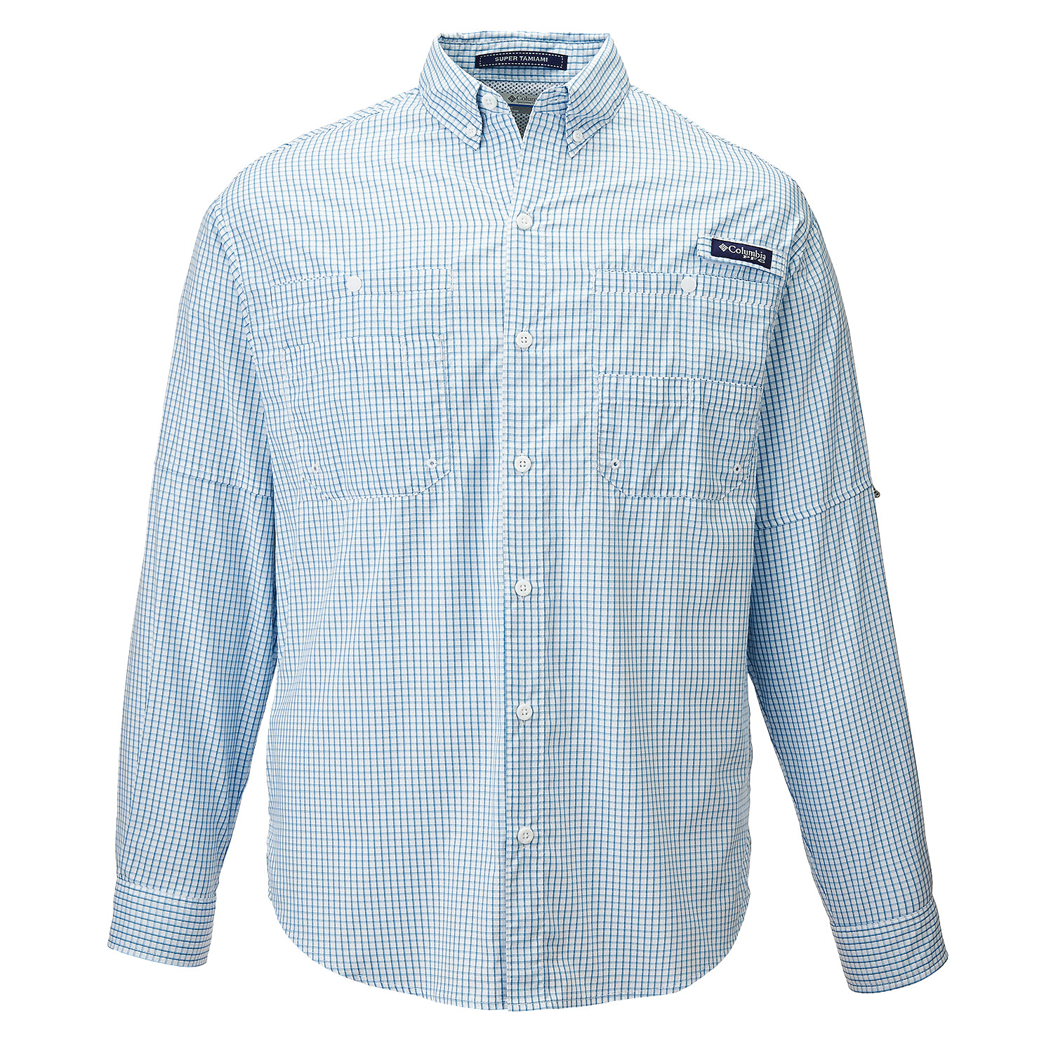Columbia 143894 - Men's PFG Super Tamiami™ Gingham Long Sleeve Shirt