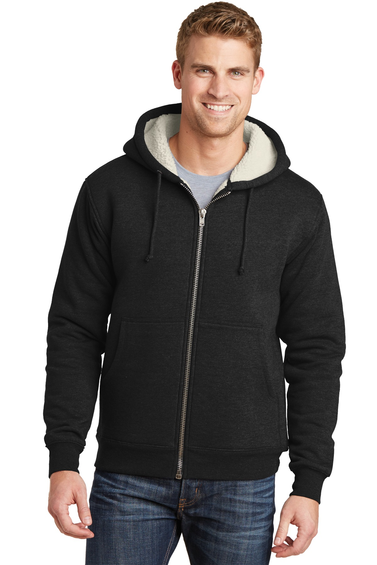 CornerStone  CS625 - Heavyweight Sherpa-Lined Hooded Fleece Jacket