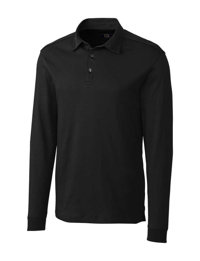 CUTTER & BUCK BCK00972 - B&T Men's L/S Pima Belfair Polo