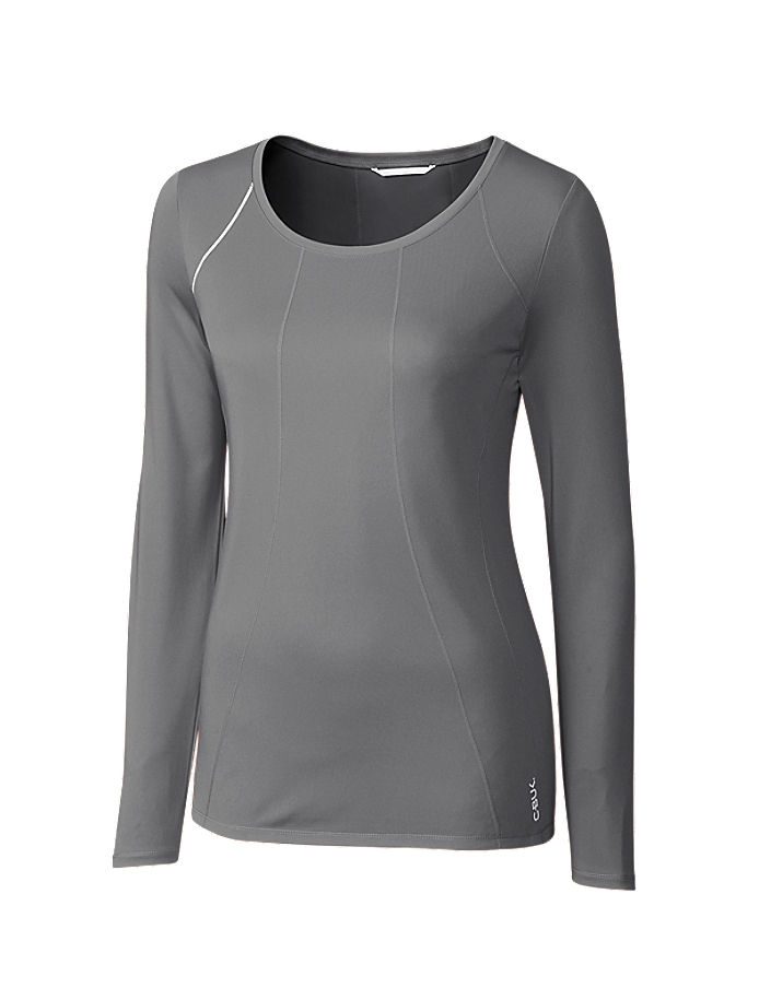 CUTTER & BUCK Cbuk LBK00014 - Ladies L/S Jaimie Scoop Neck