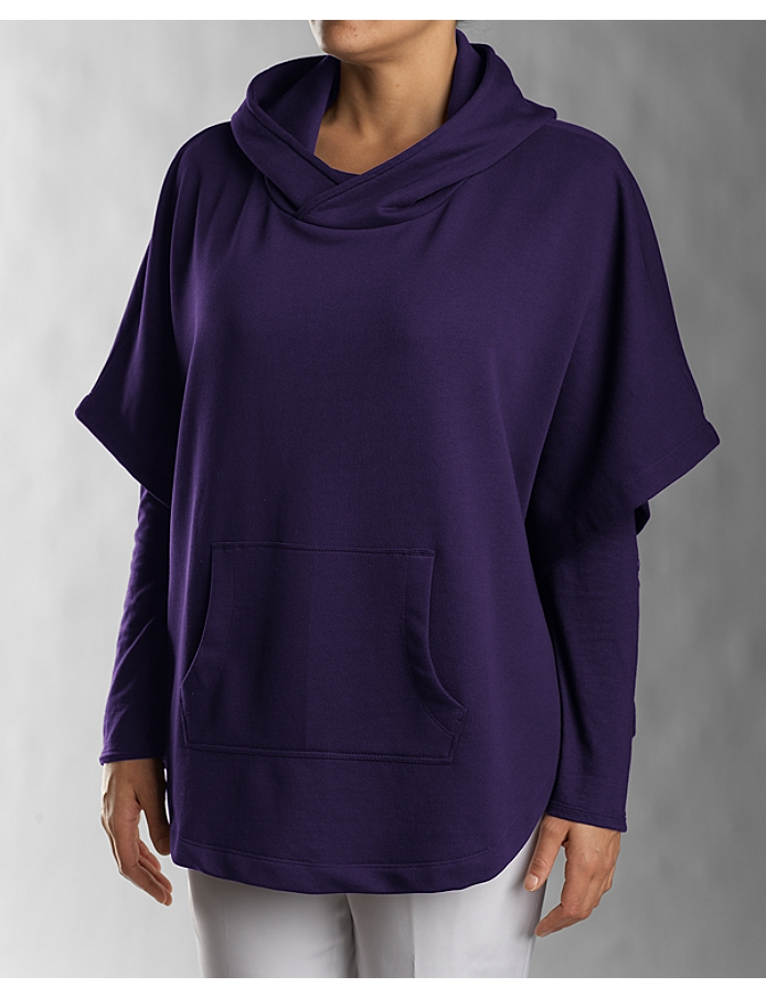 CUTTER & BUCK  LCK02361 - Ladies' Half Sleeve Hooded Poncho