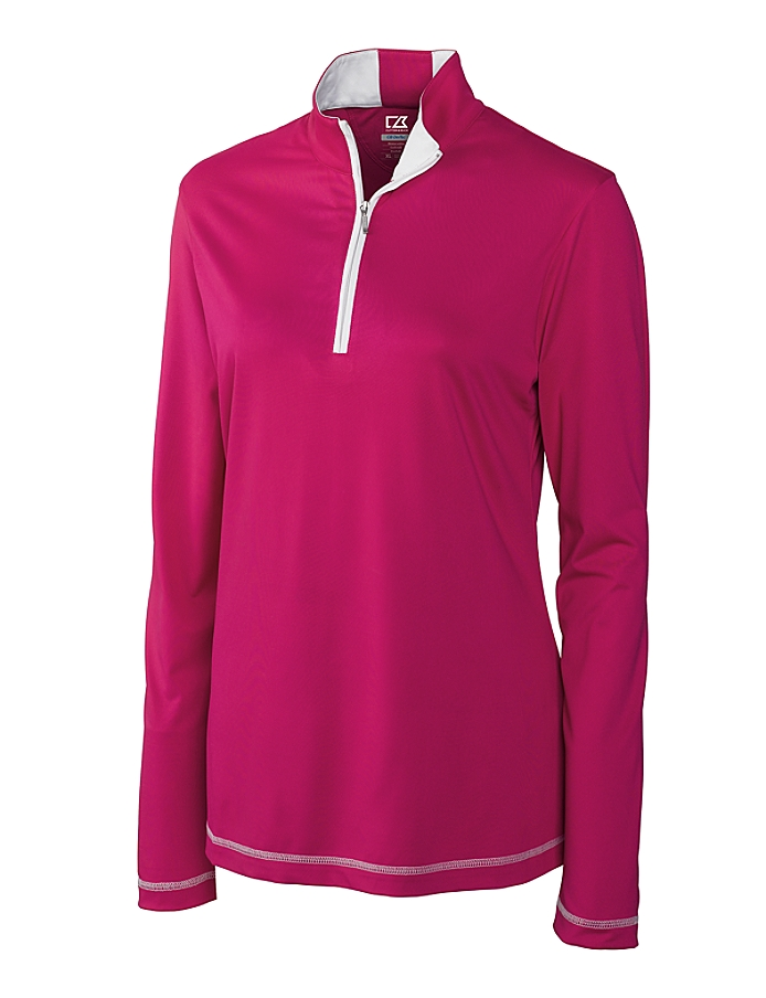 CUTTER & BUCK LCK02367 - Ladies' CB DryTec L/S Choice Zip Mock