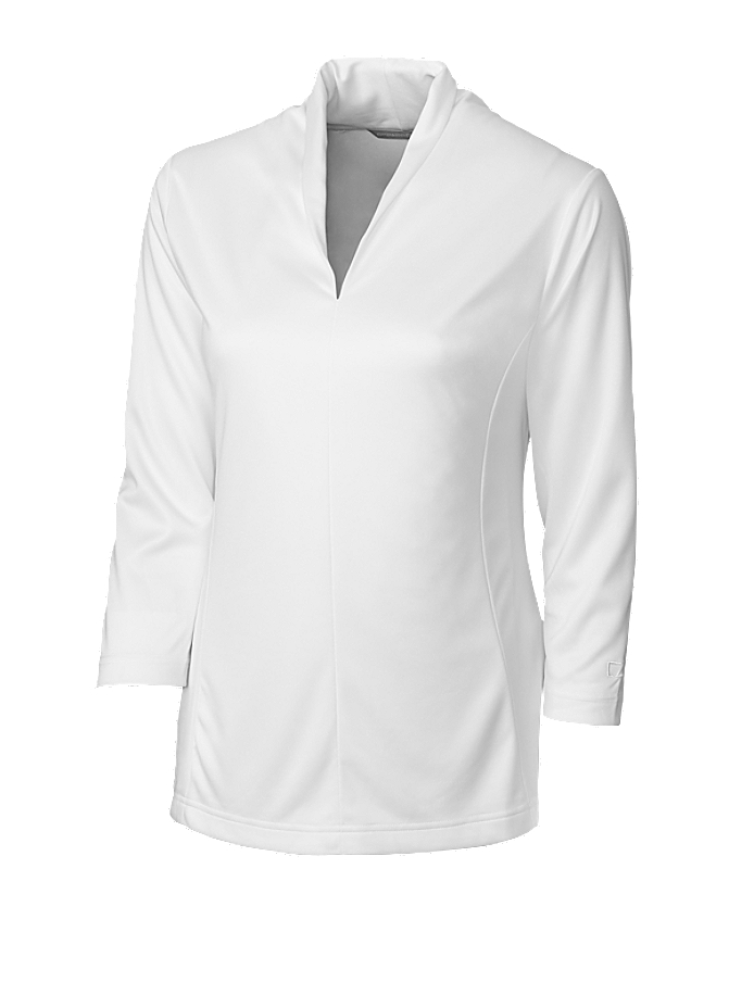 CUTTER & BUCK LCK02561 - Ladies' CB DryTec Three Quarters Sleeve Kavanagh V-neck