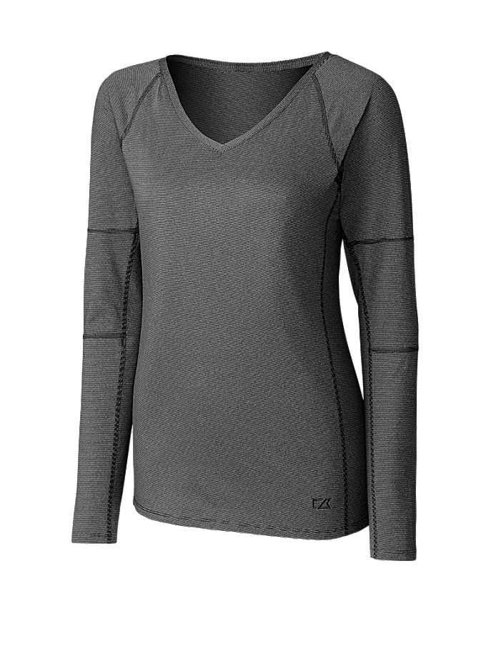 CUTTER & BUCK LCK08701 - Ladies' L/S Victory V-neck