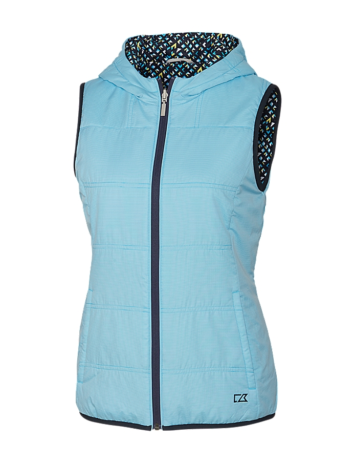 CUTTER & BUCK LCO00010 - Ladies Stripe Cora Reversible Hooded Vest