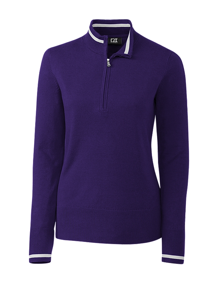 CUTTER & BUCK LCS00005 - Ladies Lakemont Tipped Half Zip