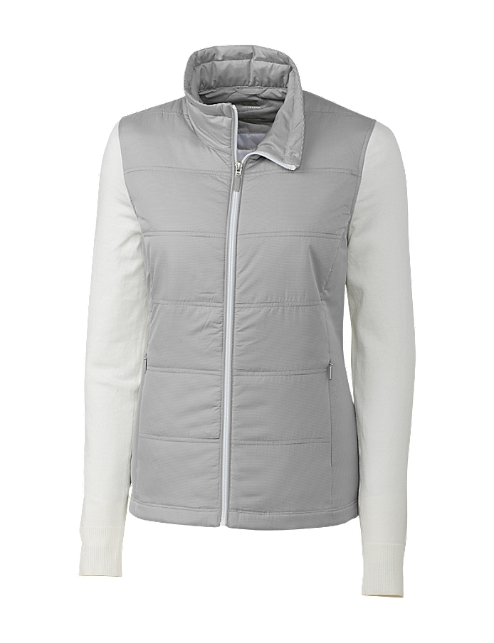 CUTTER & BUCK LCS00006 - Ladies L/S Stripe Cora Quilted ...