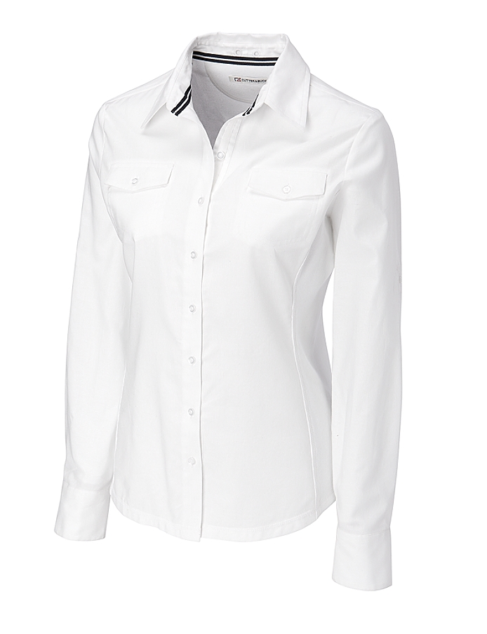 CUTTER & BUCK LCW04131 - Ladies' L/S Blakely Hybrid ...