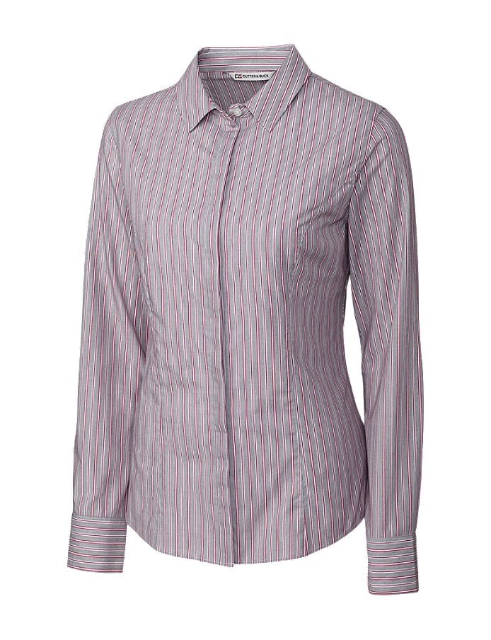 CUTTER & BUCK LCW04153 - Ladies' L/S Epic Easy Care New Multi Stripe