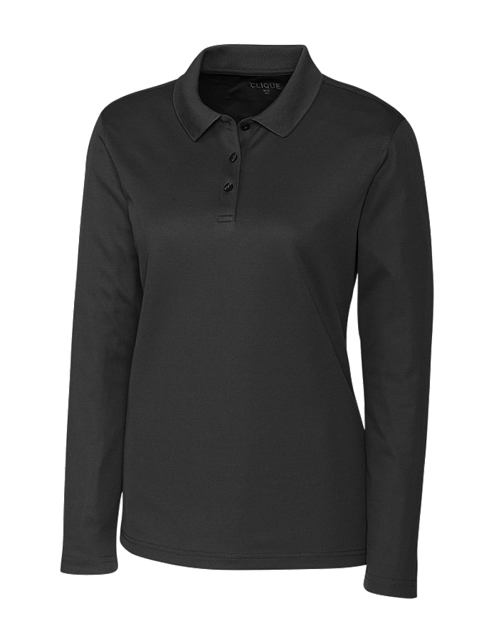 CUTTER & BUCK LQK00066 - Clique Ladies' L/S Spin Lady Pique Polo