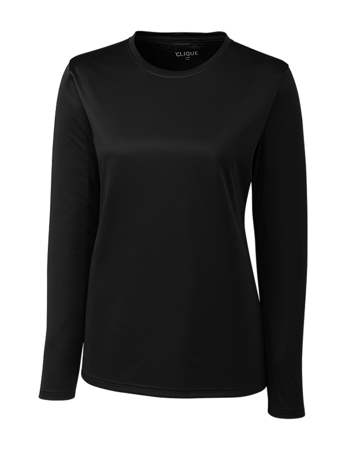 CUTTER & BUCK LQK00067 - Clique Ladies' L/S Spin Lady Jersey Tee