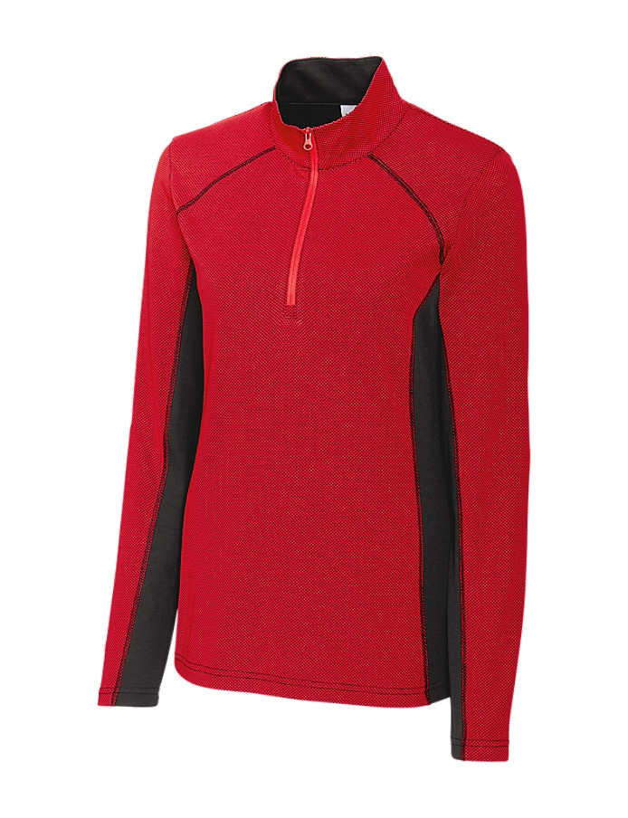 CUTTER & BUCK LQK00086 - Ladies Ice Colorblock Half Zip