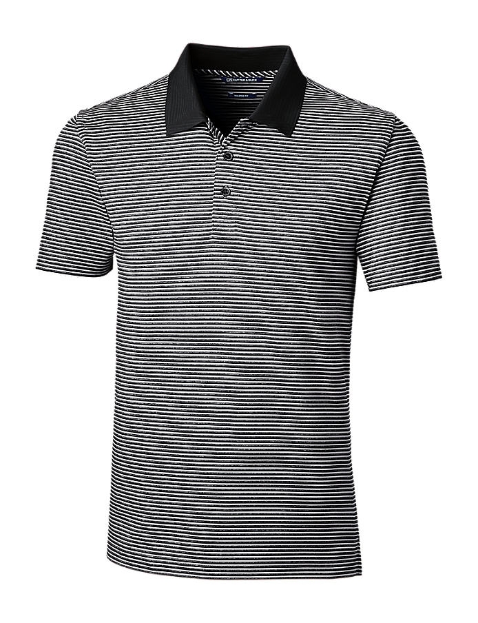 CUTTER & BUCK MCK00135 - Men's Forge Polo Tonal Stripe Tailored Fit